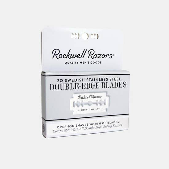 Double-Edge shaving Razor Blades - 20-Pack (~100 Shaves)
