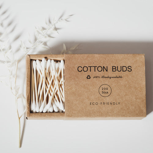 Organic Bamboo Cotton Buds (200 Pack)