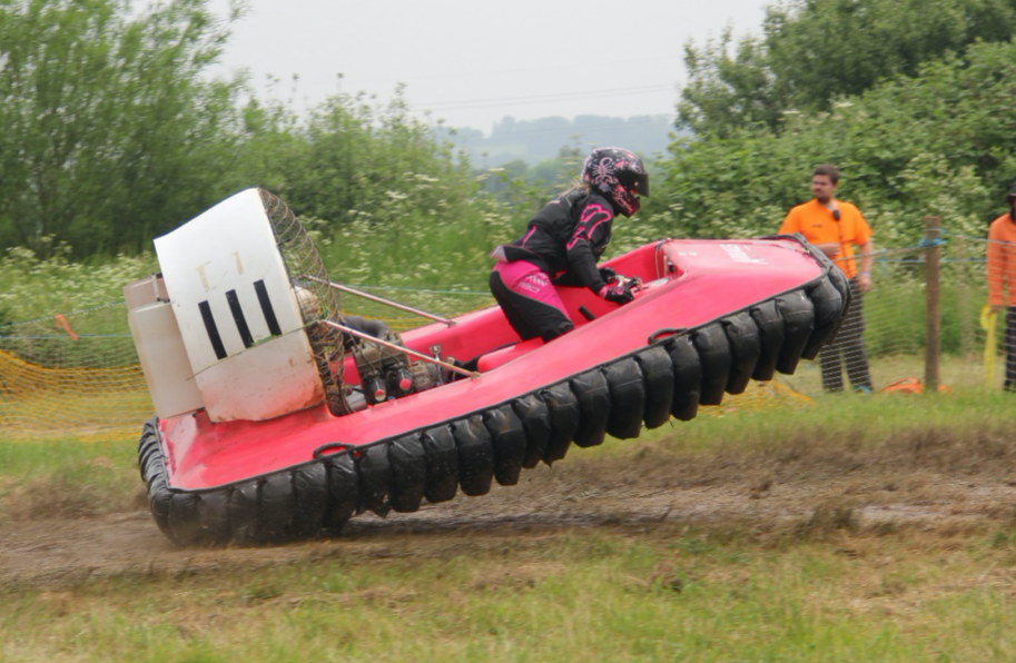 Want to learn how to race a hovercraft? Team airbags are your girls!
