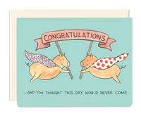 Congratulations, Wedding and Celebration Greeting Cards by Gotamago