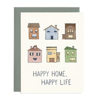 Happy Home Greeting Cards by Gotamago