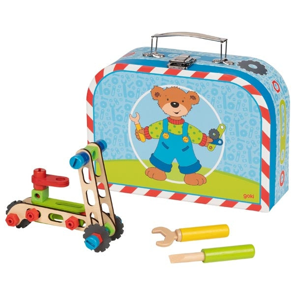 Goki Kids Build a Vehicle Suitcase Kit