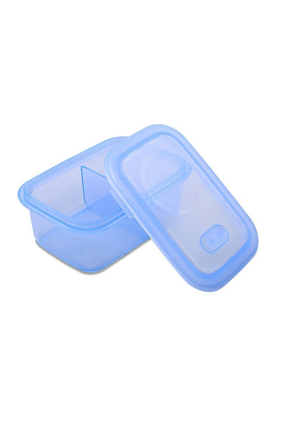 Minimal 700ml Silicone Food Container With Divider