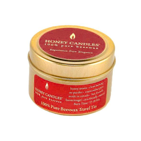 Honey Candles Beeswax Gold Travel Tin Candle