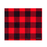 Kikkerland Buffalo Plaid Microfiber Cloth