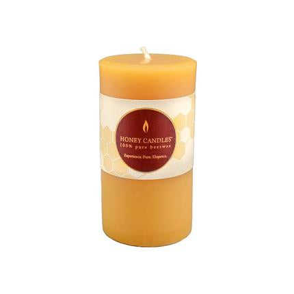 "Honey Candles Beeswax 3.25"" Small Pillar Candle"