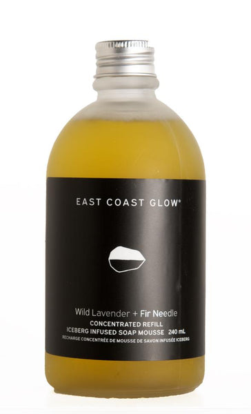 East Coast Glow Iceberg-Infused Foaming Mousse Soap - Concentrated Refill