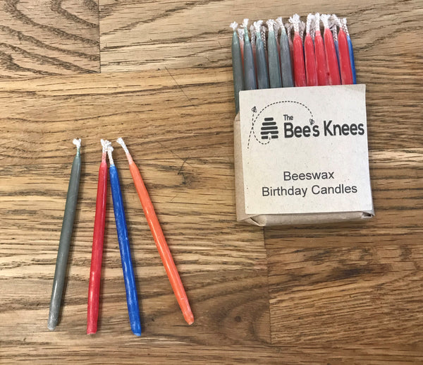The Bee's Knees Beeswax Birthday Candles Pack of 20