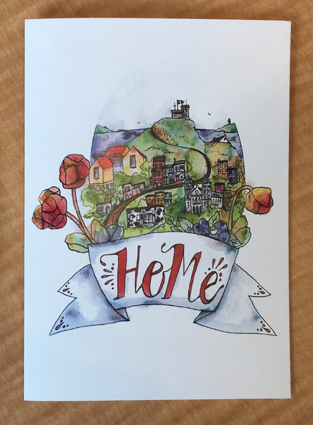 St. John's is Home Greeting Cards by Anna Bullock