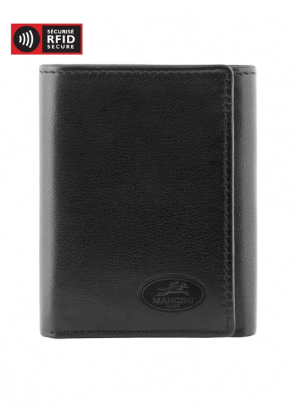 Mancini Manchester Collection Men's Trifold Wing Wallet