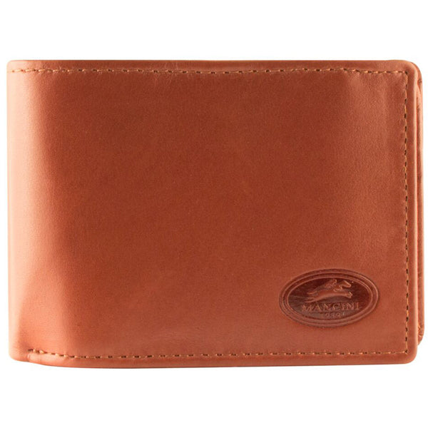 Mancini Manchester Collection Men's RFID Secure Bi-Fold Mid Wing Wallet