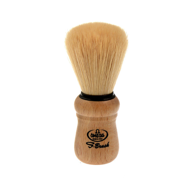 Omega Boar Bristle Shaving Brush with Beech Wood Handle