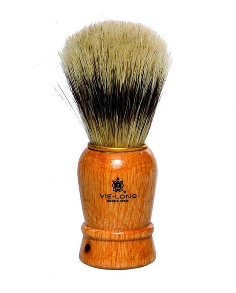 Vie-Long Shaving Brush, Wood Handle & Synthetic Bristles