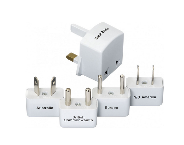 Go Travel Worldwide Adapter Kit Ungrounded