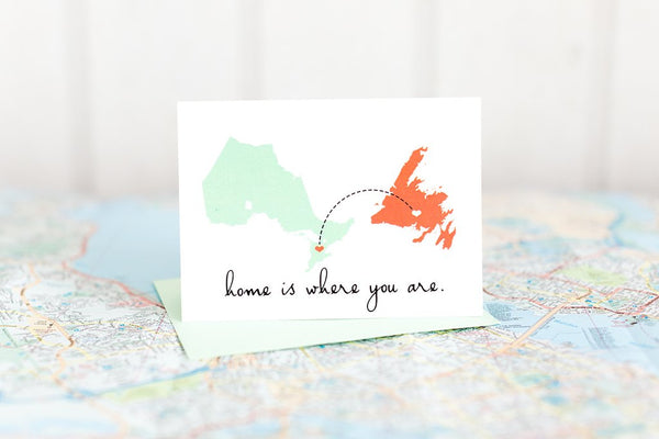 Home Is Where You Are Greeting Cards by Halifax Paper Hearts