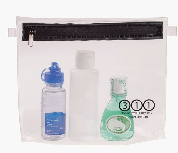 Lewis N. Clark Quart-Size Carry-On Toiletry Pouch, Clear