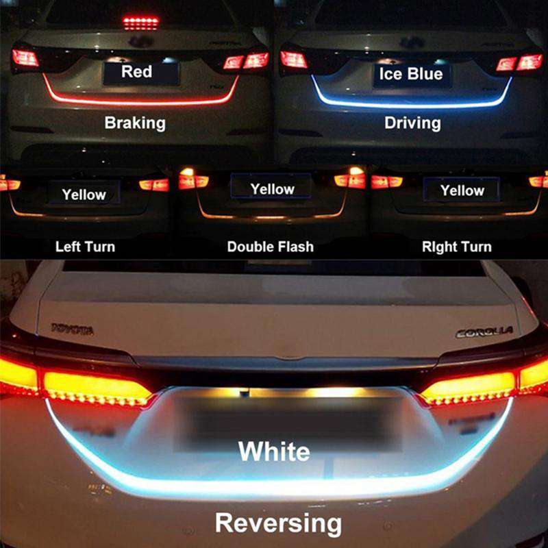Tailgate strip flash follow LED Light