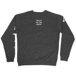 FOCUS ON THE GOOD BLACK CREW NECK
