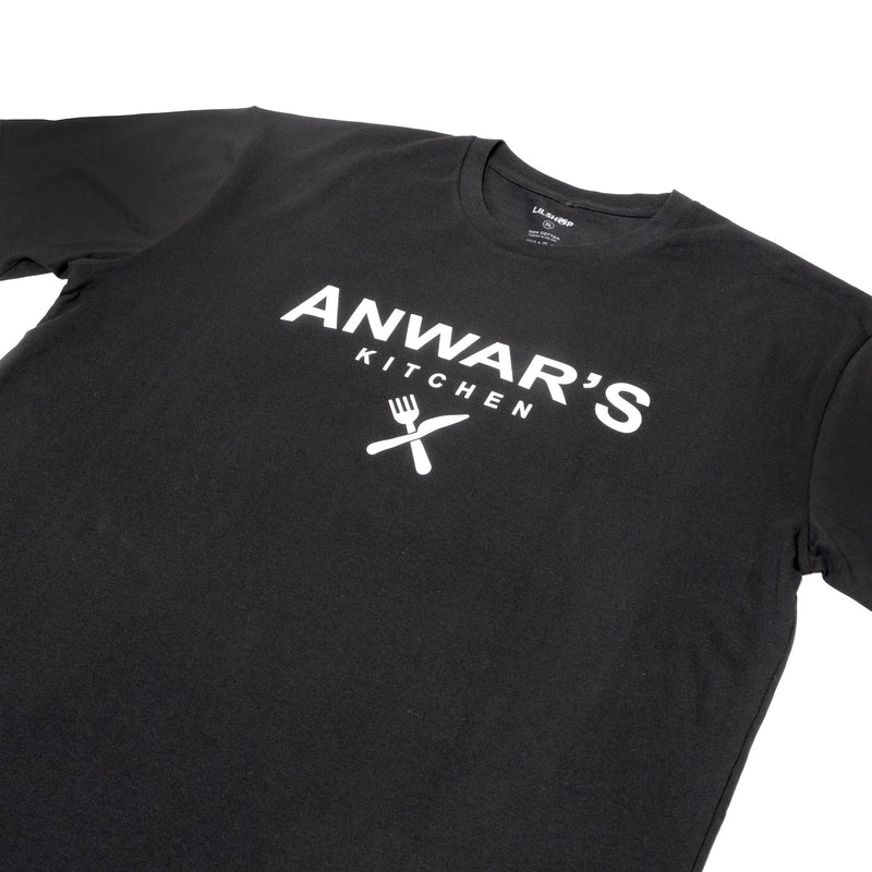 ANWAR'S KITCHEN BLACK T-SHIRT