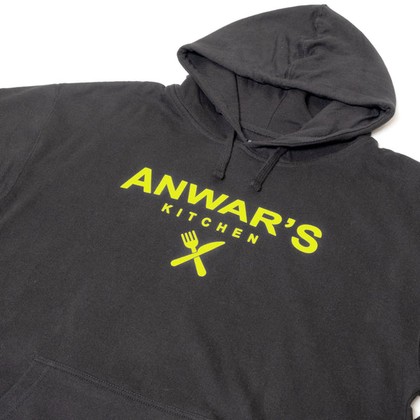 ANWAR'S KITCHEN BLACK WITH NEON HOODIE