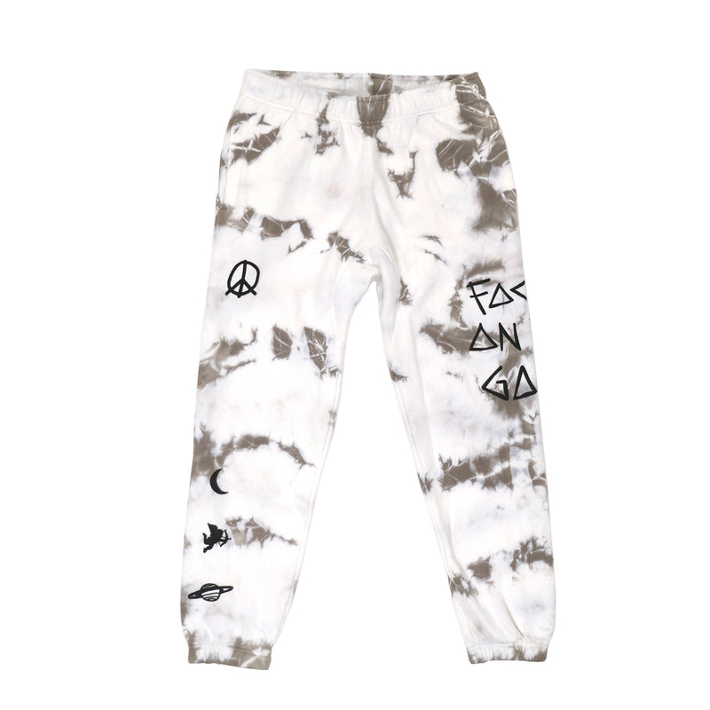 Focus On The Good Grey Tie Dye Joggers