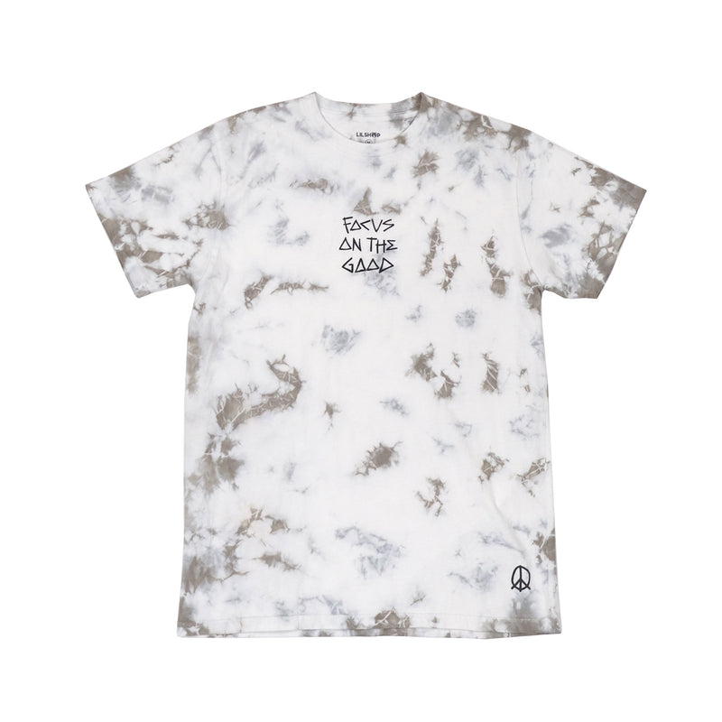 Focus On The Good Grey Tie Dye T-Shirt