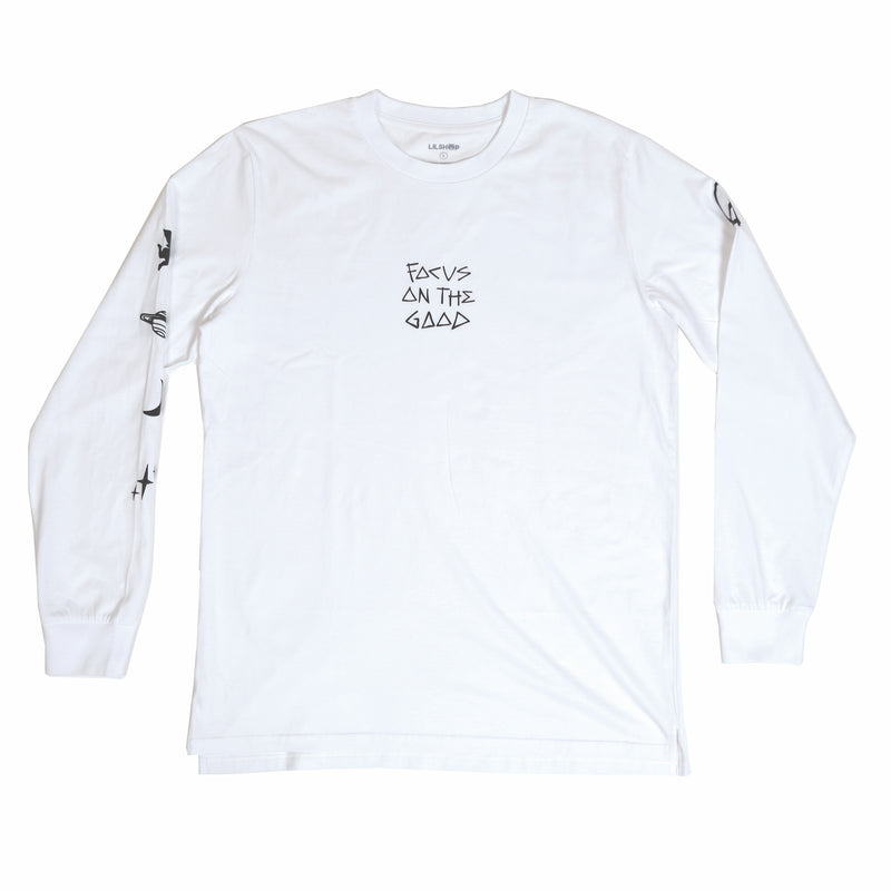FOCUS ON THE GOOD WHITE LONG SLEEVE