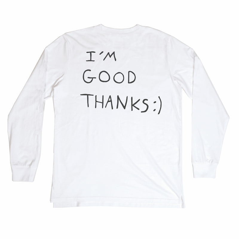 HI HOW ARE U? WHITE LONG SLEEVE