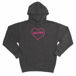 MAMA CHARCOAL HEATHER HOODIE
