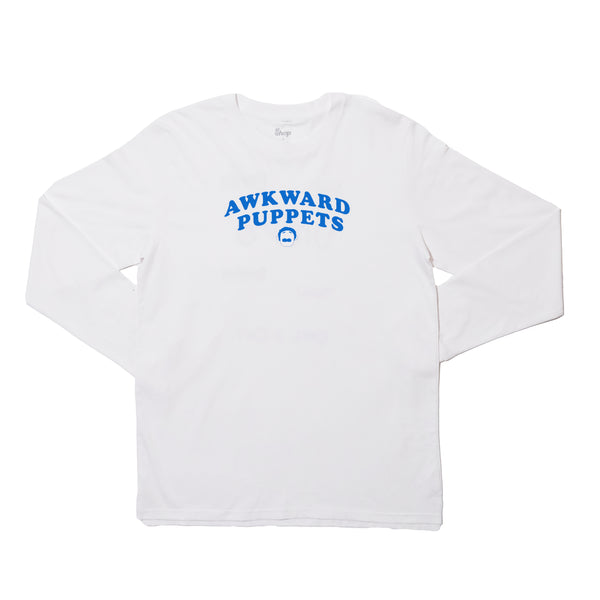 AWKWARD PUPPETS WHITE LONG SLEEVE
