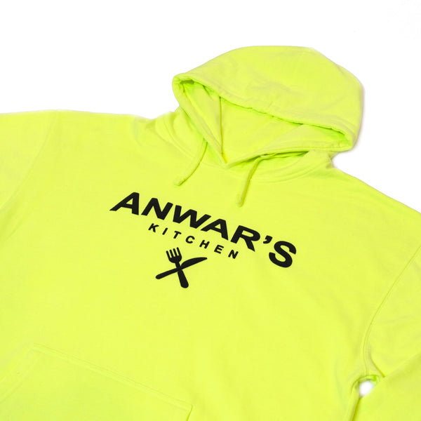 ANWAR'S KITCHEN NEON WITH BLACK HOODIE