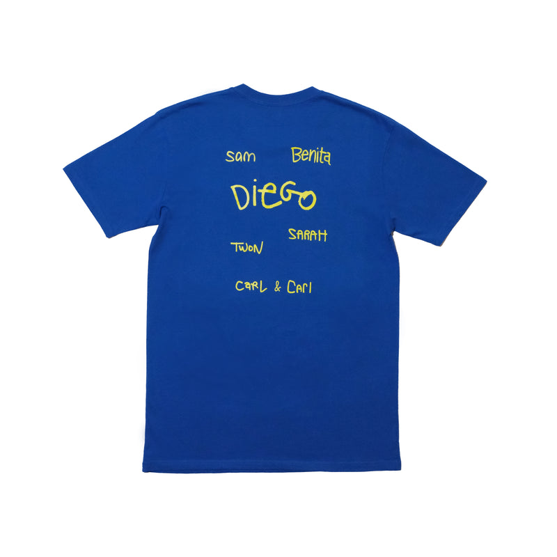 AWKWARD PUPPETS ROYAL BLUE T-SHIRT