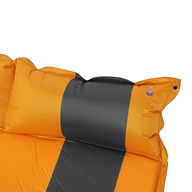 SeaRock Double Self-Inflating Air Mattress With Pillow - equippt travel & camping