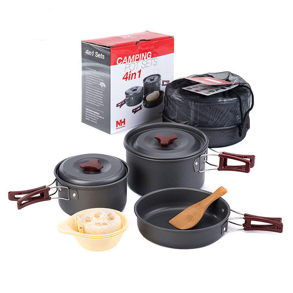 Naturehike 4 in 1 Cookware Set - equippt travel & camping