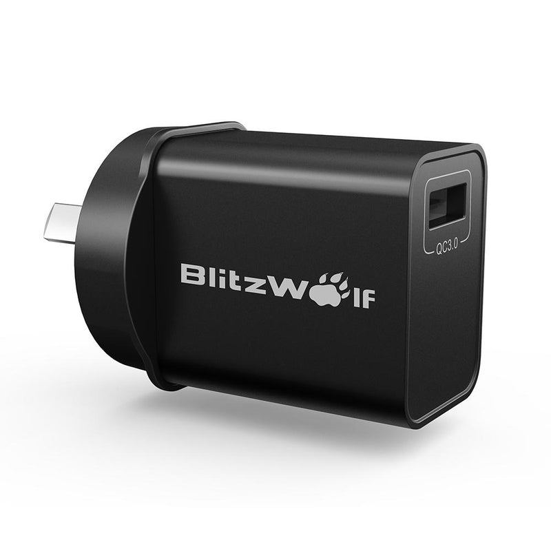 BlitzWolf S9 18W USB Charger with Adapter - equippt travel & camping