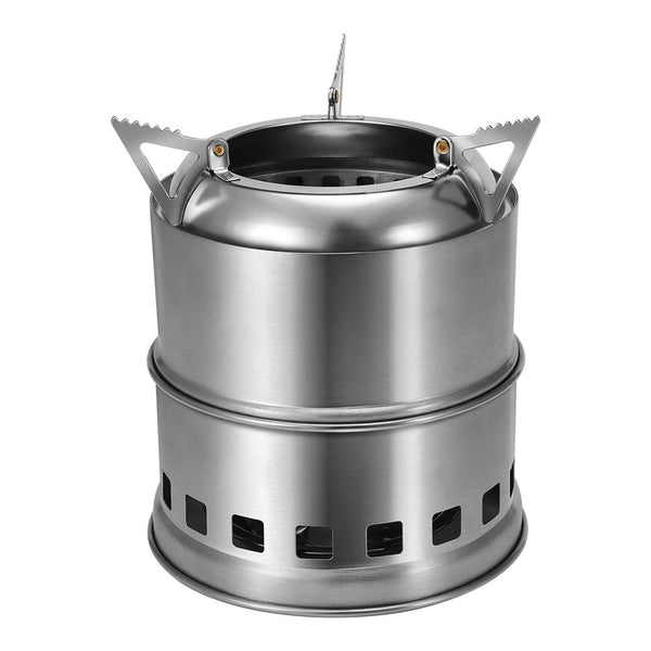 Xmund Stainless Steel Wood Burning Stove - equippt travel & camping