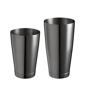 Boston Shaker Stainless Steel Cocktail Shaker 18oz & 28oz Weighted Shaker Tins, Black
