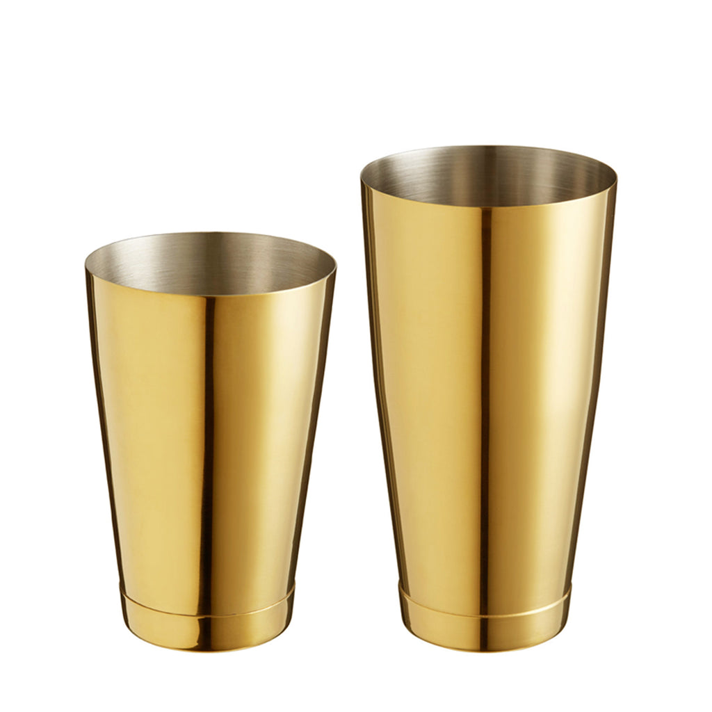 Boston Shaker Stainless Steel Cocktail Shaker 18oz & 28oz Weighted Shaker Tins, Gold