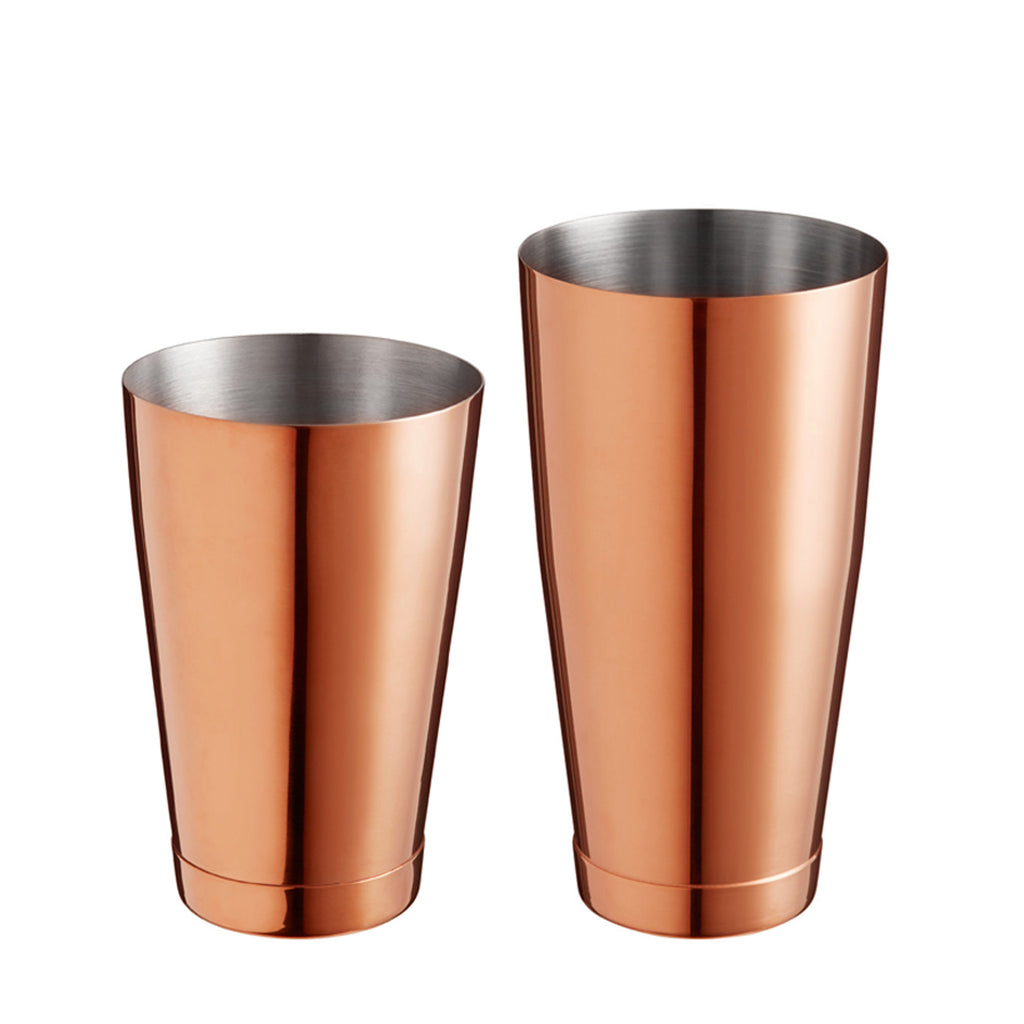 Boston Shaker Stainless Steel Cocktail Shaker 18oz & 28oz Weighted Shaker Tins, Copper