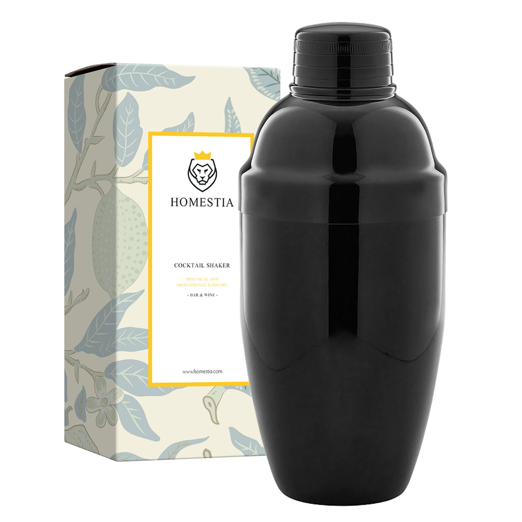 20 oz Black Cobbler Shaker Stainless Steel Japanese Style Cocktail Shaker Homestia®