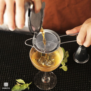 Fine Mesh Sieve Strainer Stainless Steel Cocktail Strainer Food Strainers Tea Strainer 3 inch Silver by Homestia®