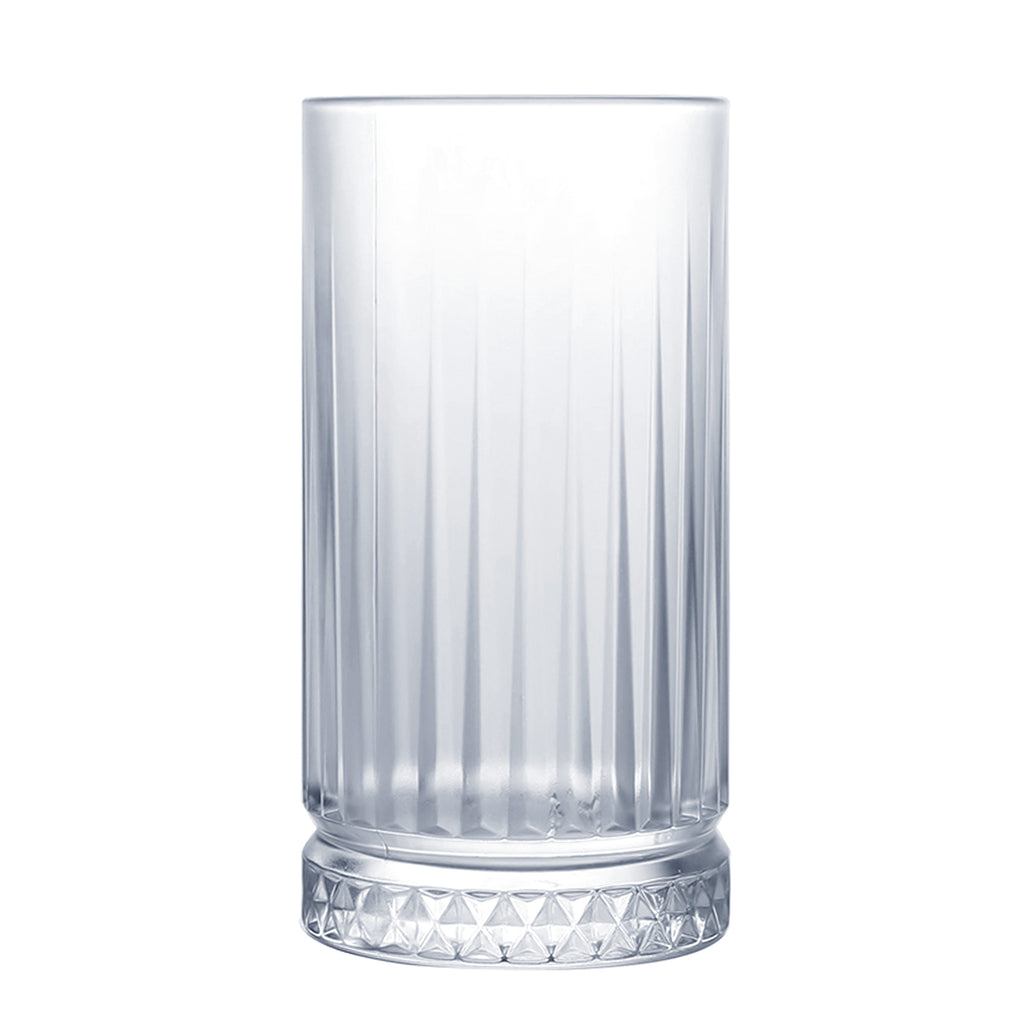Homestia Cut Crystal Double Highball Glasses Lead-free Crystal Cocktail Glass 14.5 oz
