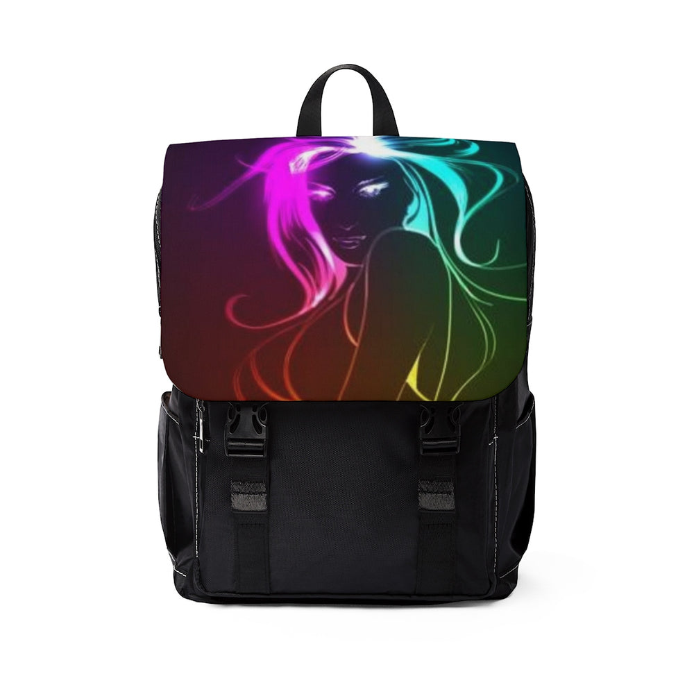Unisex Casual Shoulder Backpack by Indioseye
