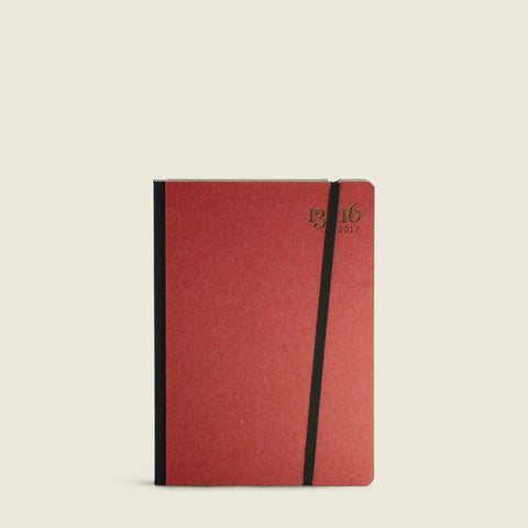 2017 Pocket diary with Red cover|Agenda Pocket 2017 con copertina rosso cardinale
