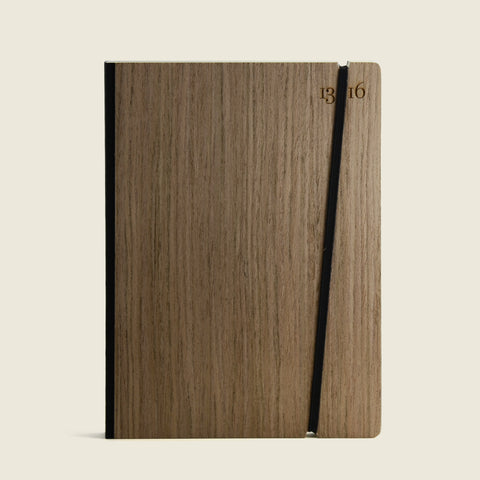 Notebook with rosewood cover|Taccuino con copertina in palissandro