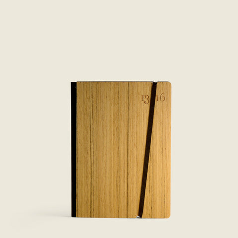 Pocket notebook with walnut cover|Taccuino Pocket con copertina in noce