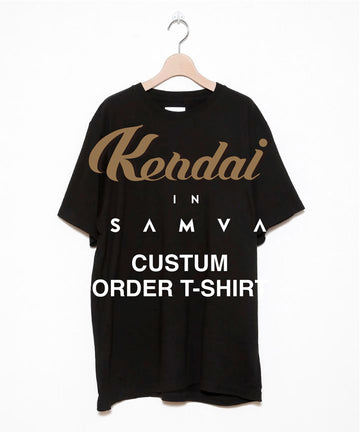KENDAI × STOF CUSTOM ORDER EMBROIDERY T-SHIRTS[BLACK]