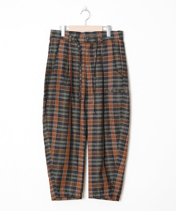 Linen Check 5Pockets Pants