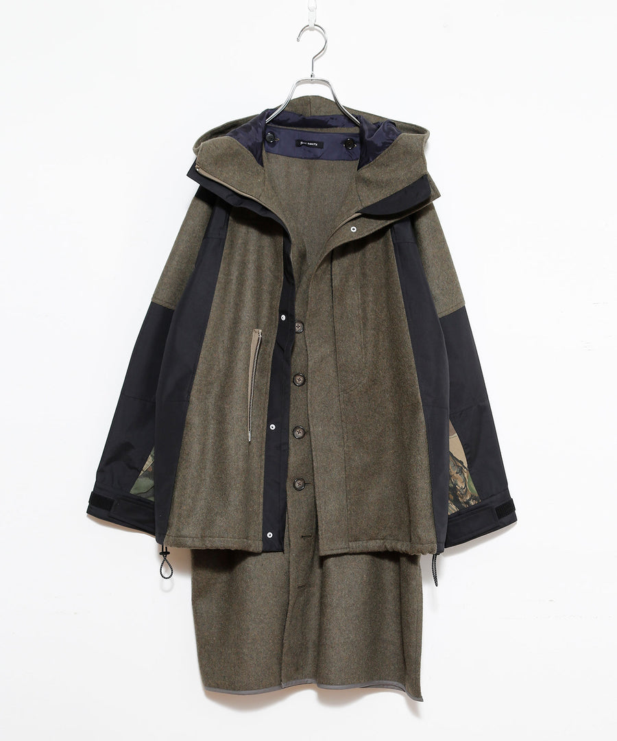 WOOL Mt. PARKA SHORT / LONG LINER set /OLV*OLV_001