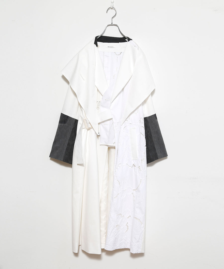 TABLE CLOTH △ SHAWL COAT/SHORT LINWE set_002